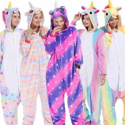 AU38.99 • Buy Unisex Adult Unicorn Tenma Kigurumi Pajamas Animal Cosplay Costume Sleepwear New