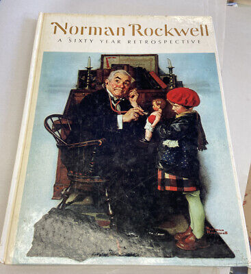 $ CDN15.82 • Buy VTG Coffee Table Book AMERICA Sixty Year Retrospective Norman Rockwell ART USA