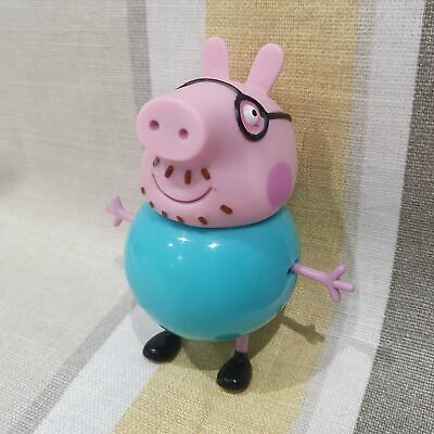Daddy Pig 10cm Figure With Movable Arms And Legs From Peppa Pig • 9.99£
