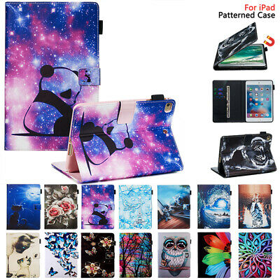 AU21.99 • Buy For IPad 9.7 5 6 Pro 10.5 10.2 Air 2 3 Mini 5 Case Pattern Magnetic Wallet Cover