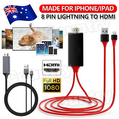 AU13.95 • Buy 8 Pin Lightning To HDMI Lead TV AV Cable Adapter For IPhone 11/XS/MAX/XR/X/SE 2M
