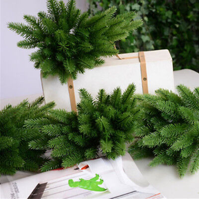 £4.59 • Buy 10X Artificial Plants Pine Branches Christmas Garland DIY Xmas Party Decorations