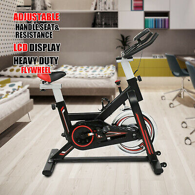 Exercise Spin Bike 11KG Flywheel Cycling Bicycle Fitness Indoor Home Training A • 169.99£
