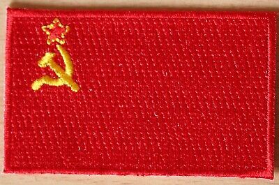 USSR Communist Soviet Union Country Flag Embroidered PATCH • 2.75£