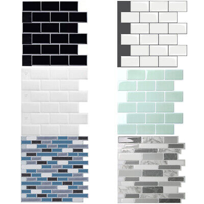 3D Kitchen Tile Stickers Bathroom Self-adhesive Mosaic Wall Cover Decal Sticker • 3.79£