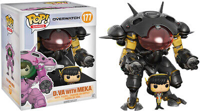 AU47.45 • Buy Funko Pop Vinyl Overwatch D.va And Meka Carbon Fibre #177 Exclusive 6  Figure