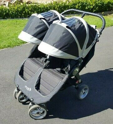 Baby Jogger City Mini Double Black/Grey   EXCELLENT CONDITION • 180£