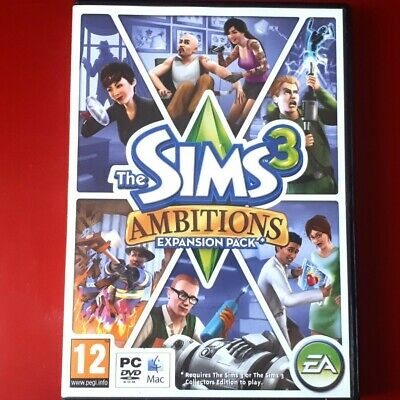 The Sims 3 Ambitions Expansion Pack - PC - Free Postage - Excellent Condition • 5£