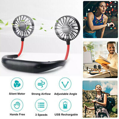 AU16.99 • Buy Sports Wearable Fan Portable USB Rechargeable Neckband Lazy Hanging Flexible AU