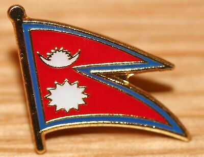 NEPAL Nepalese Flag Country Metal Lapel Pin Badge • 2.99£