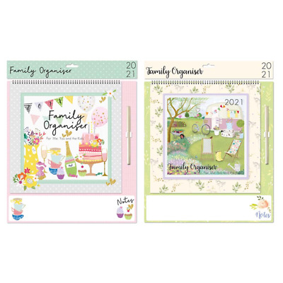 2021 X Large  Family Organiser Month To View. Wipe On/off Notes Free P&p  • 6.25£