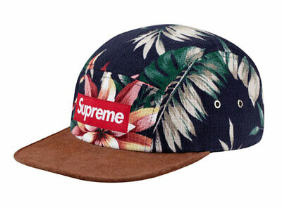 $ CDN335.19 • Buy Supreme Suede Floral Camp Hat Navy SS12 100% Authentic