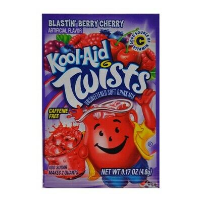 Blastin' Berry Cherry Kool-Aid Twists | American Candy • 2.99£