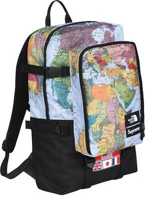 $ CDN1609.30 • Buy Supreme X The North Face Expedition Backpack Map Print RTG Denim Purple Label