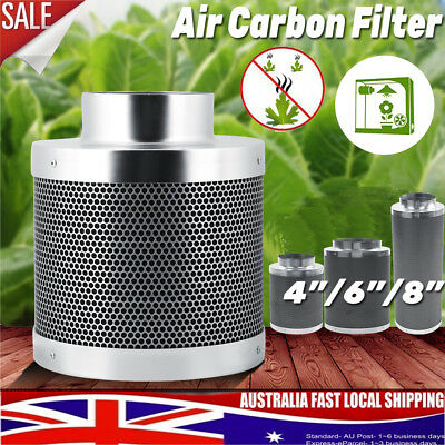 AU44.98 • Buy 4  6  8  Inch Carbon Filter Odor Control For Fan Grow Tent Hydroponics AU SHIP