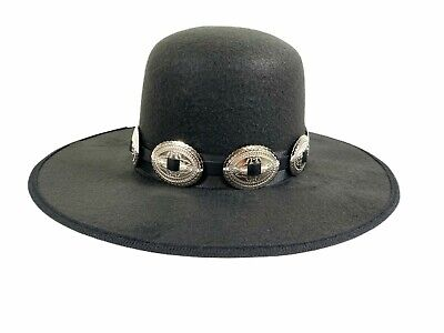 £32.36 • Buy Spanish Western Hat Steampunk Topper Victorian Mad Hatter Slash Concho Band