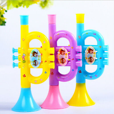 Colorful Trumpet Hooter Baby Kids Musical Instrument Early Education_Toy/CL  F4 • 3.33£
