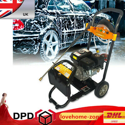 Petrol Power Pressure Jet Washer 170 BAR 7.5HP Engine With Gun Hose Nozzles OHV • 177£