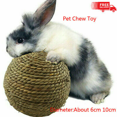 £3.99 • Buy Pet Teeth Chew Grinding Natural Grass Ball Toys Hamster Bes For Rabbit UK
