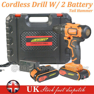 View Details 21V Cordless Combi Drill Driver Worklight Electric Screwdriver 1 Or 2 Battery • 60.15£