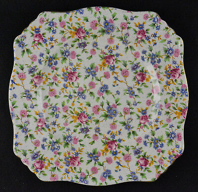 $ CDN28.94 • Buy Royal Winton Old Cottage Chintz  Square Bread & Butter Plate (6 )