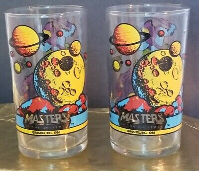 $78 • Buy Masters Of The Universe Skeletor Panthor 2 Glasses 4 1/4  Tall By Mattel 1986