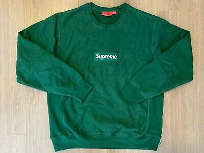 $ CDN545.36 • Buy Supreme Box Logo Crewneck Sweater Dark Green Sz XL
