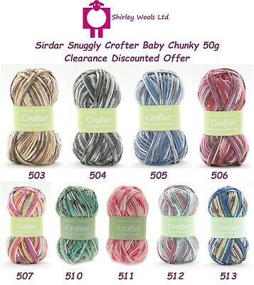 Sirdar Snuggly Baby Crofter Chunky 50g - Discounted Clearance Offer • 1.99£