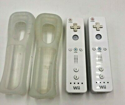 $ CDN49.37 • Buy Lot Pair Set Of 2 Two OEM Nintendo Wii Remote Controllers RVL-003 White