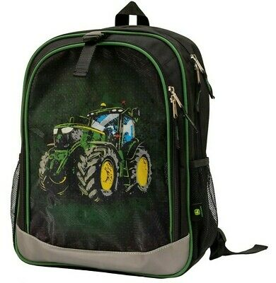 AU51.61 • Buy NEW John Deere Black Tractor Book Bag Backpack LP70696