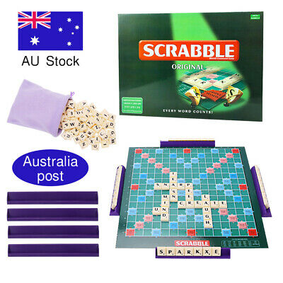 AU16.50 • Buy OZ Original Scrabble Board Game Kids Educational Toy Hot Fun Family Party Game