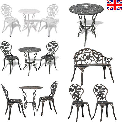 1/2/3pcs Bistro Set Cast Aluminium Outdoor Garden Patio Dining Table And Chairs • 168.17£