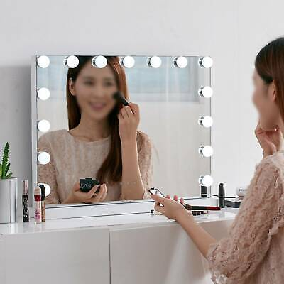 Vanity Mirror With 15 LED Dimmable Lights Hollywood Makeup Touch Control Mirrors • 78.99£