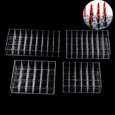 24/36/40 Lipstick Holder Display Stand Cosmetic Organizer Makeup Case Acrylic F4 • 10.09£