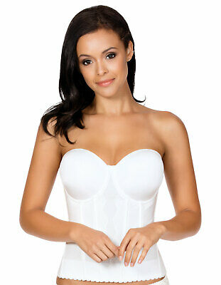 Parfait P5017 Elissa Pearl White Underwired Low-Back Bustier • 28.80£