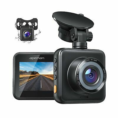 AU94.28 • Buy APEMAN Dual Dash Cam For Cars Front And Rear With Night Vision 1080P FHD Mini...