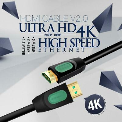 AU7.99 • Buy 1.5-5M High Speed HDMI Cable V2.0 Ultra HD 4K 2160p 1080p 3D  Ethernet HEC