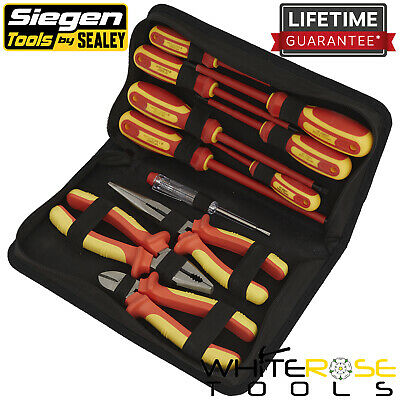 Siegen By Sealey Electrical VDE Tool Set 11pc Pliers Screwdrivers Side Cutters • 59.99£