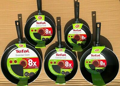 Tefal Everyday Cook Non-Stick 8x Choose Frying Pan 32 26 24 20 Cms Or 28cms Wok • 19.75£