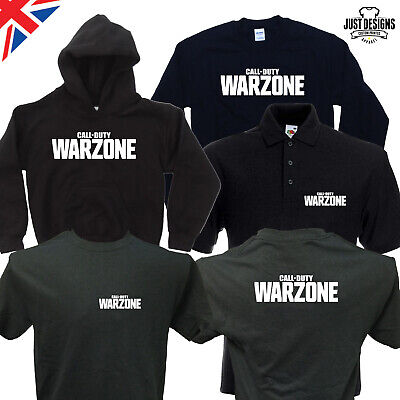 £12.50 • Buy Call Of Duty WARZONE T-shirt Zipped Hoodie Polo Shirt Jumper COD Modern Warfare