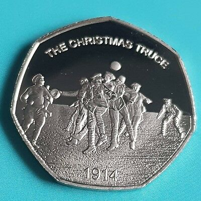 2018 Christmas Truce Commemorative Coin Album/50p Fifty Pence Collectors • 12.95£