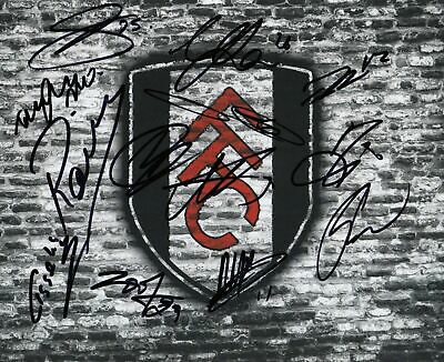 Football - Crest - Hand Signed 8x10 Photograph - Fulham COA • 15£