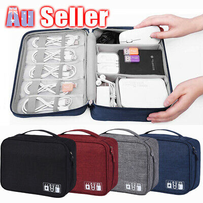 AU13.65 • Buy Cable Organizer Bag Charger USB Electronic Accessories Storage Travel Case