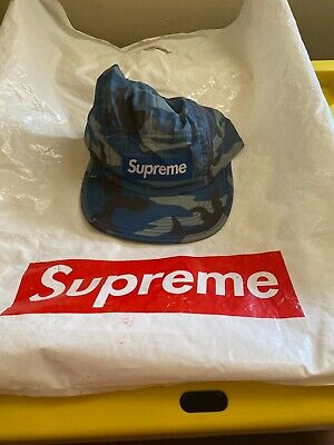 $ CDN175.74 • Buy DSWT Supreme FW18 Reflective Camo Camp Cap Blue 100% Authentic In HAND!