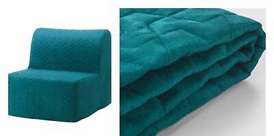 IKEA- LYCKSELE  Chair-bed Cover Vallarum Turquoise - BRAND NEW RRP 80£ • 75.99£
