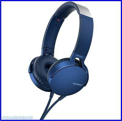 NEW & SEALED SONY Extra Bass Wired Stereo Ear Pad Headphones MDR-XB550AP Blue • 32.95£