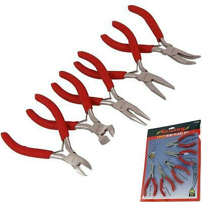 £6.99 • Buy Neilsen 5pc Jewellery Mini Pliers Extra Long Bent Nose Side End Cutter Tool Set