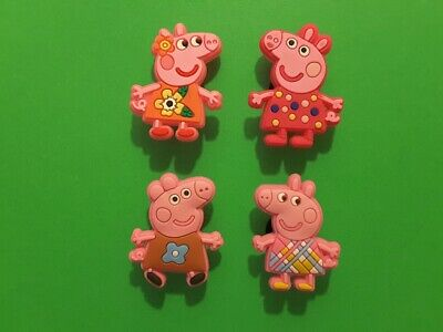 4pcs 2D PVC Shoe Charms Peppa Pig 1 Similar To Jibbitz Fits Crocs • 2.17£
