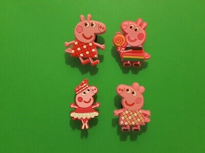 4pcs 2D PVC Shoe Charms Peppa Pig 2 Similar To Jibbitz Fits Crocs • 2.17£