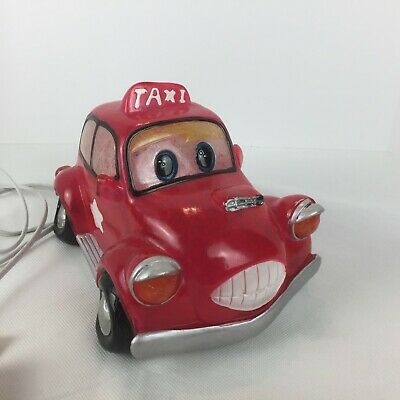 £14.54 • Buy Disney Pixar Red Taxi Car Night Light Table Lamp Plug In With Bulb (READ)